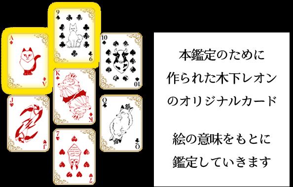 帝王カード 本鑑定のために作られた木下レオンのオリジナルカード 記号や絵の意味を読み解けば自ずと答えが見えてきます